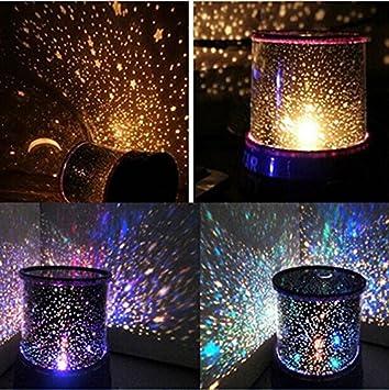 Amazon.com: Lámpara LED de noche estrellada con proyector de ...
