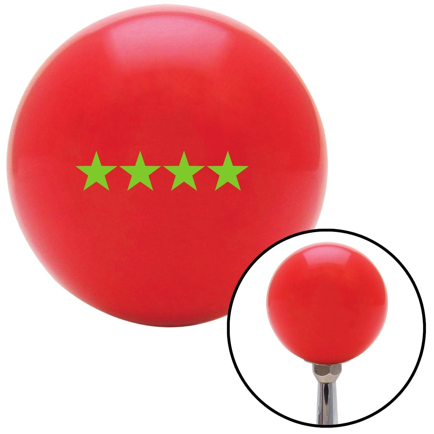 American Shifter 97988 Red Shift Knob with M16 x 1.5 Insert Green Officer 10 - Admiral