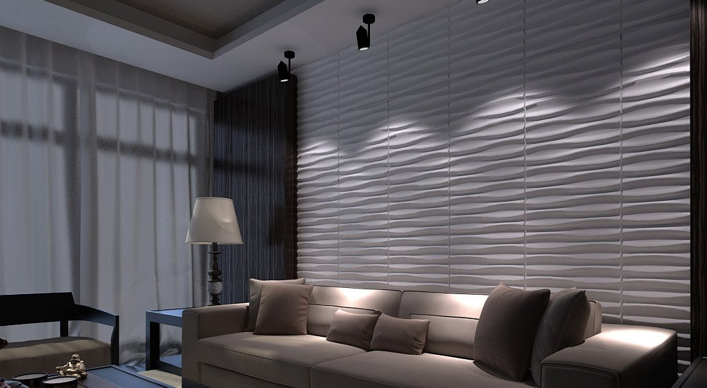 Art3d Paintable 3D Texture Wall Panels, Pack of 12 Tiles 32 Sq Ft (Plant Fiber) A21042