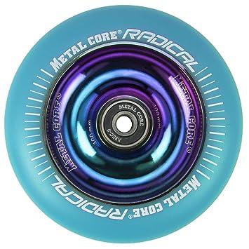 Metal Core Rueda Radical Rainbow para Scooter Freestyle, Diámetro 100 mm (Azul): Amazon.es: Deportes y aire libre