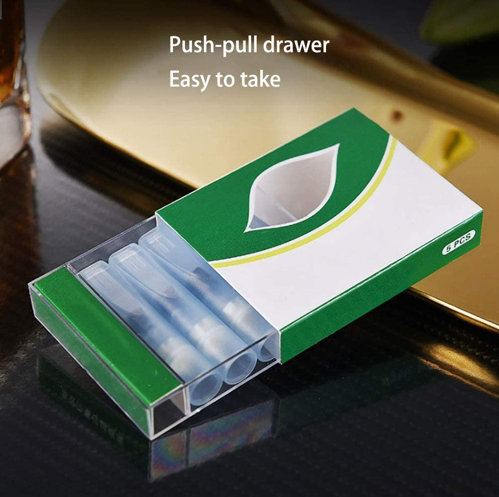 TOMMY LAMBERT Zigarettenfilter Filterspitzen Mikrofilter Wiederverwendbare Zigarettenspitze Reduziert Teer Zigaretten Teer Filter Tune Aktivkohlefilter Aktivkohlefilter Aktivkohle Filter