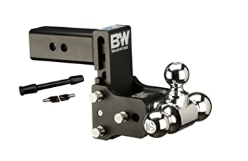 Adjustable Hitch Receiver >> B W Hitches Ts20048b Adjustable Hitch Ball Mount W 1 7 8 X 2 X 2 5 16 Tri Ball And 5 8 Black Receiver Hitch Lock Bundle