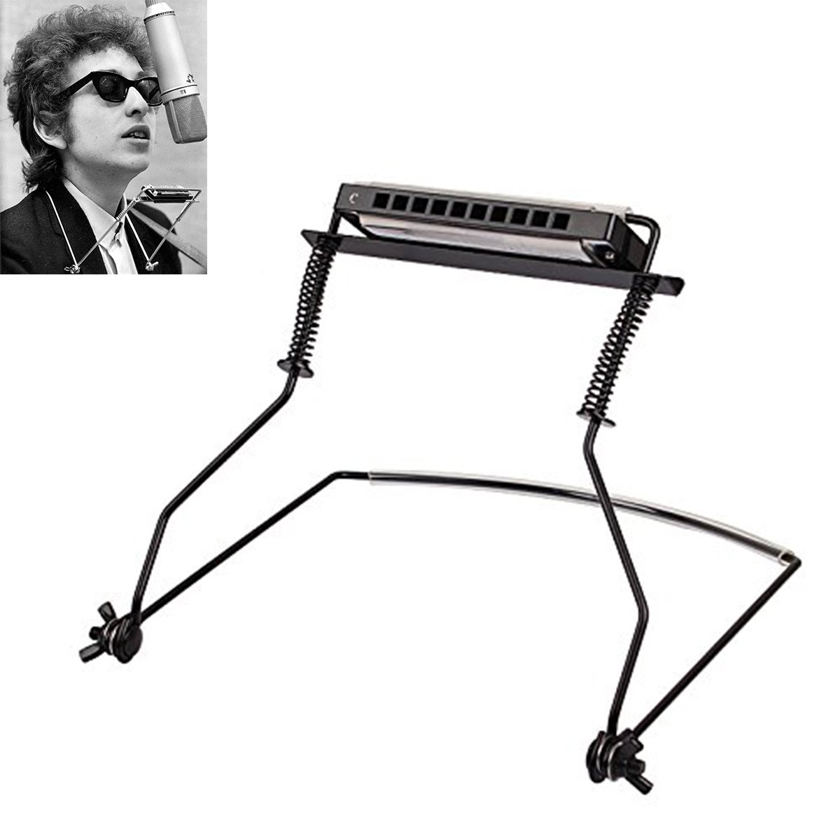 LLOP Harmonica Holder - Hands Free Harmonica Neck Holder Stand for 10 Hole Harmonica (10 Hole)