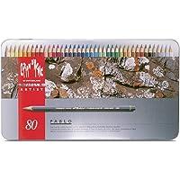 Caran d'Ache Pablo boya kalemleri, 80 renk, metal kutuda, 666.380, renkli