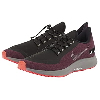 buy popular 2d9d0 2359a Nike Mens Air Zoom Pegasus 35 Shield Running Shoes, Black/Metallic  Silver-Night Maroon