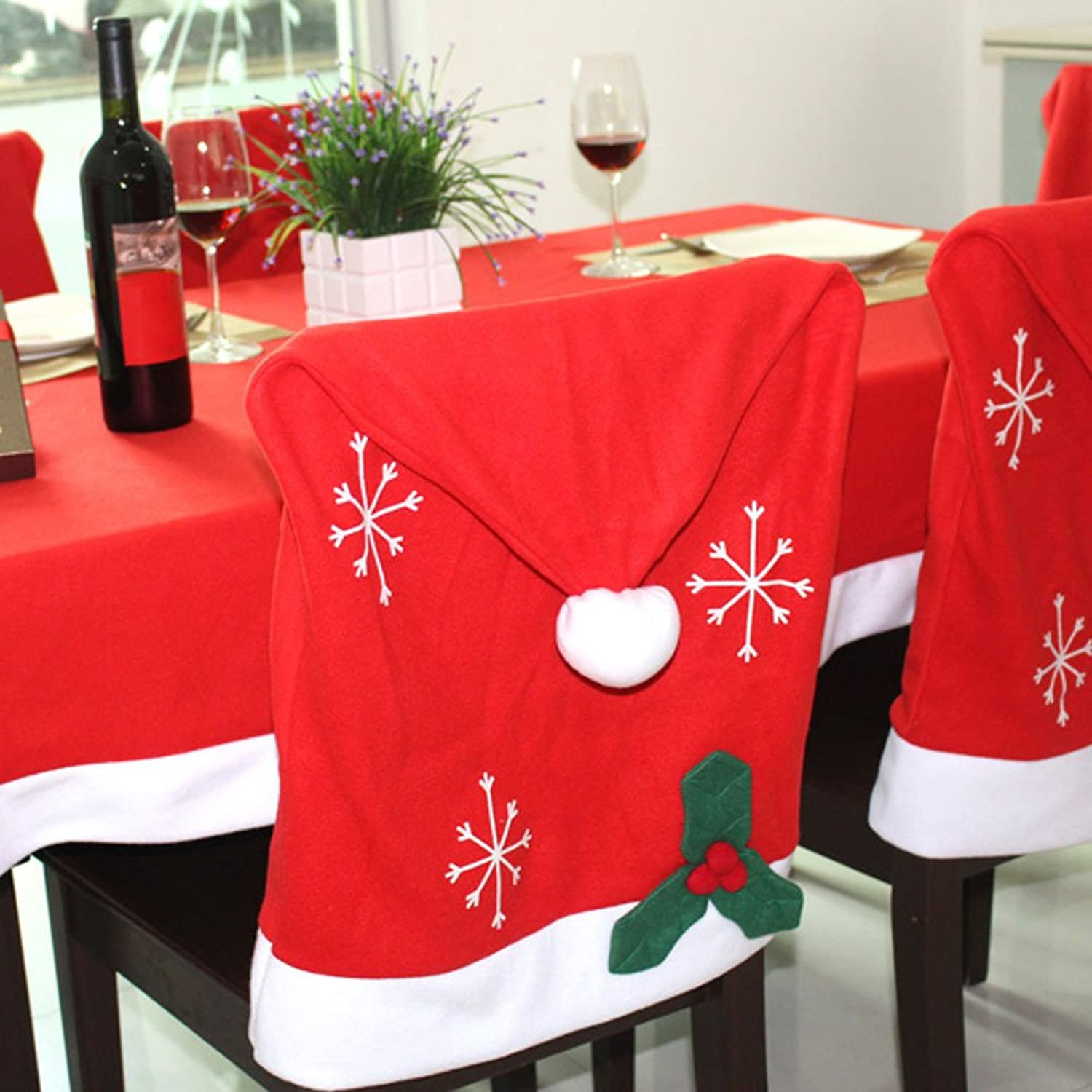 Santa Hat Christmas Chair Covers