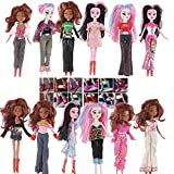 (US) ZWSISU 20=10pc New Stylish clothing +10 pairs of shoes for Monster High Doll