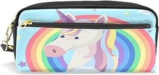 Trousse, Unicorn Rainbow Imprimé Voyage Maquillage Pouch Grande capacité étanche Cuir 2compartiments pour filles garçons femmes Hommes