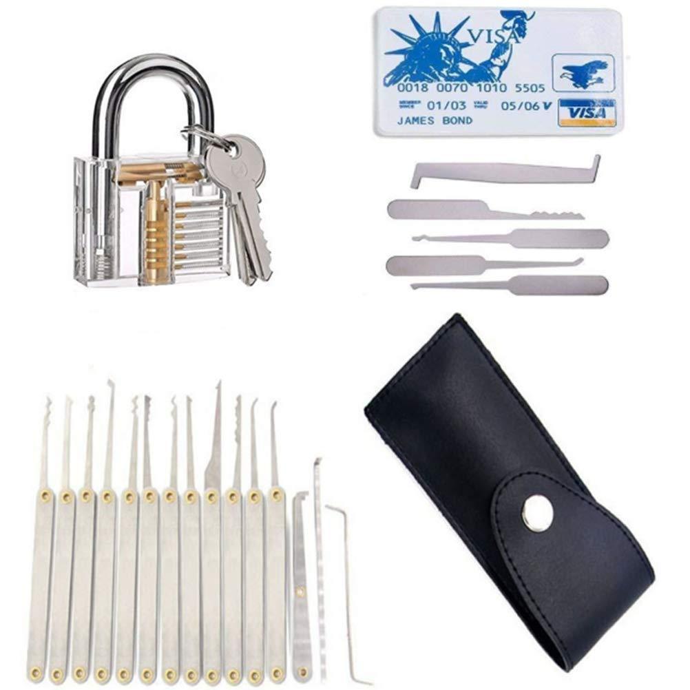 Gift for Men Learn to unlock tool set Black