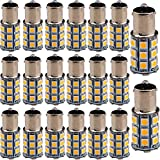 EverBrightt 20-Pack Warm White 1156 BA15S / 1141 5050 27SMD LED Replacement Bulb Car Turn Signal Lamp DC 12V