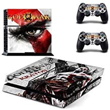 CAN PS4 Console Designer Protective Vinyl Skin Decal Cover for Sony PlayStation 4 & Remote DualShock 4 Wireless Controller Stickers - God of War