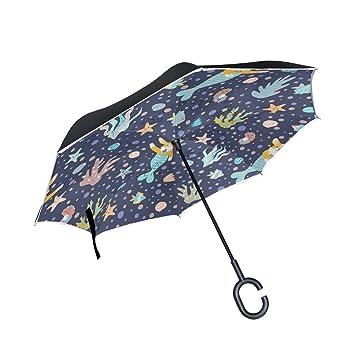MAILIM - Paraguas de Cola de Sirena para Perros, con Doble Capa C y asa