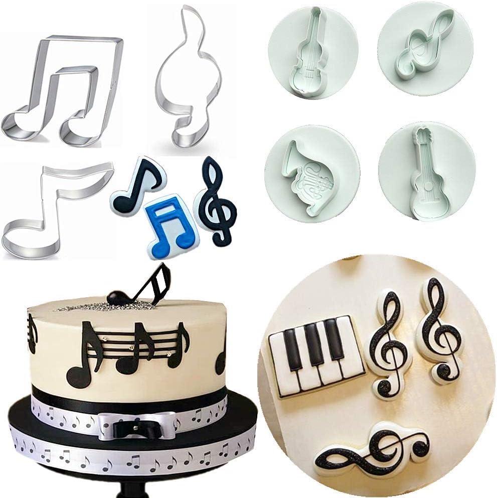 Terrific Amazon Com Set Of 7 Jevenis Music Note Fondant Mold Musical Personalised Birthday Cards Akebfashionlily Jamesorg
