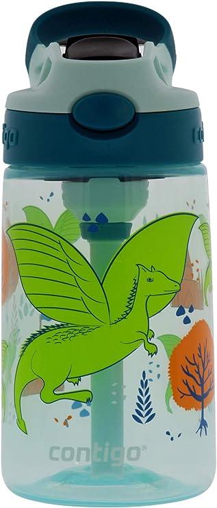 environ 396.89 g paresseux Autospout bouteille d/'eau facile à nettoyer couvercle avec paille Contigo enfants 14 oz