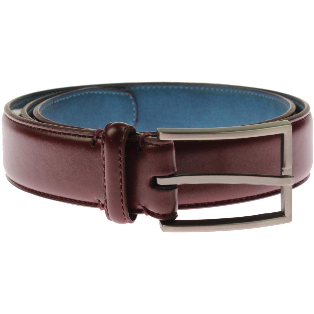 Ryan Seacrest Mens Coated Leather Dress Belt Red 34