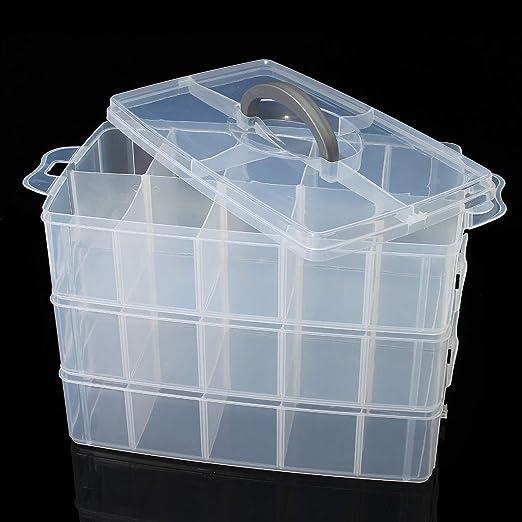 Caja de almacenamiento de plástico transparente con 3 capas para ...