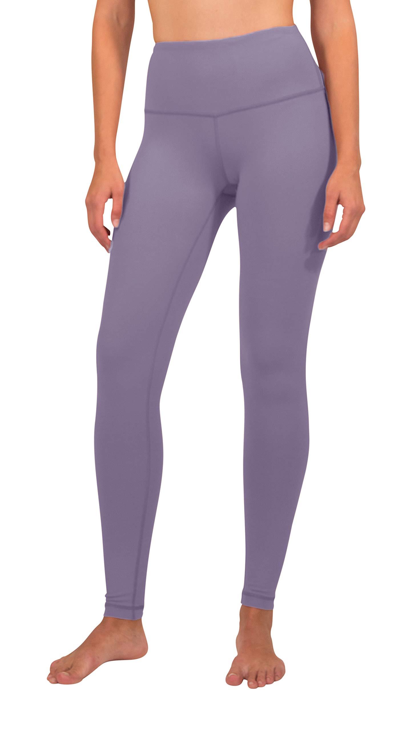 90 Degree By Reflex - High Waist Power Flex Legging - Tummy Control - Vintage Lilac - Small by 90 Degree By Reflex