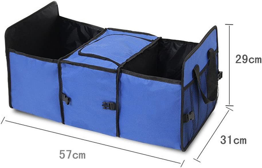 Best For Keeping All Truck Supplies Together SUV and Truck Blue YIOVVOM Trunk Organizer Organizer For Car Rugged and Durable for Hauling Cargo While Folding Flat for Easy Storage