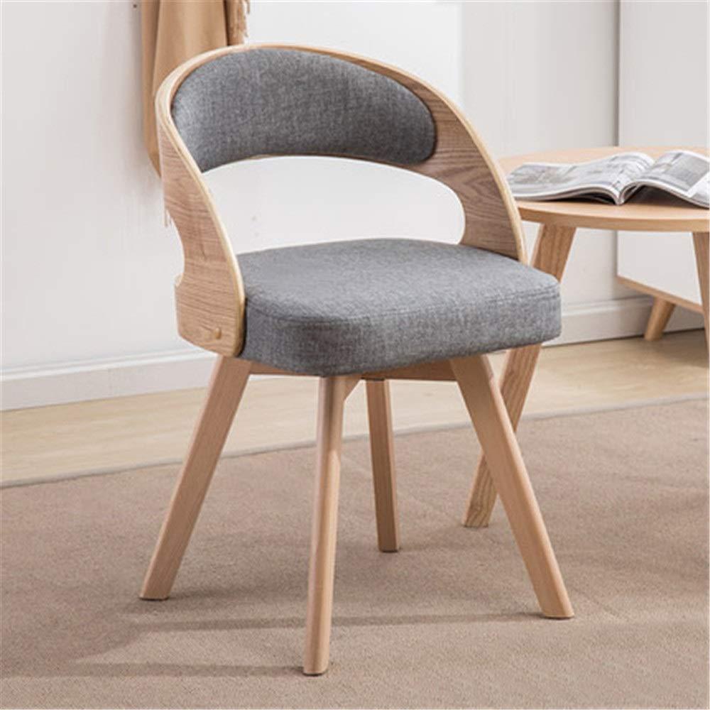 木製チェア 純木ファッションダイニング椅子椅子スツール現代のミニマリストバルコニーレジャーテーブルと椅子木製大人会議チェア リビングルームオフィスキッチン (色 : C4, サイズ : As shown) B07S4K8153 C4 As shown