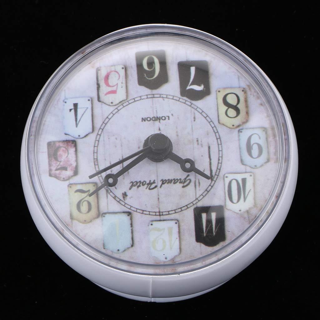 Rose B Blesiya R/ésistant /à Eau Salle De Bains Horloge Murale Porte Serviette Avec Ventouse
