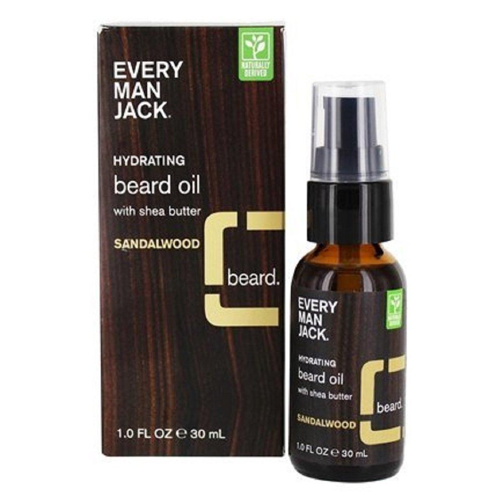 Every Man Jack Beard Oil, Cedarwood, 1 Fluid Ounce Everyman Jack 91309
