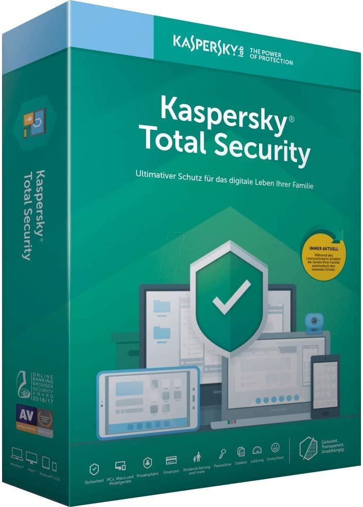 Kaspersky 2020 Total Security - Antivirus, 3 Licencias, 1 Año
