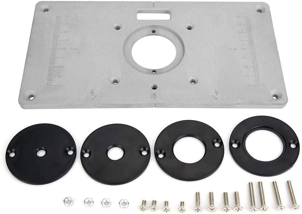 Router Table Insert Plate, Aluminum DIY Router Table for Woodworking