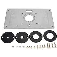Placa de inserção para madeira, placa de inserção de mesa de roteador DIY para trabalhos em madeira, placa e anel, placa…