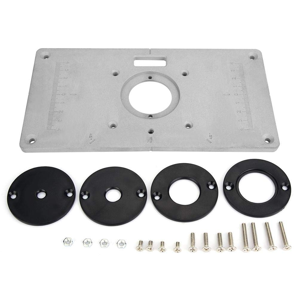 Router Table Insert Plate, Aluminum DIY Router Table for Woodworking by Hilitand