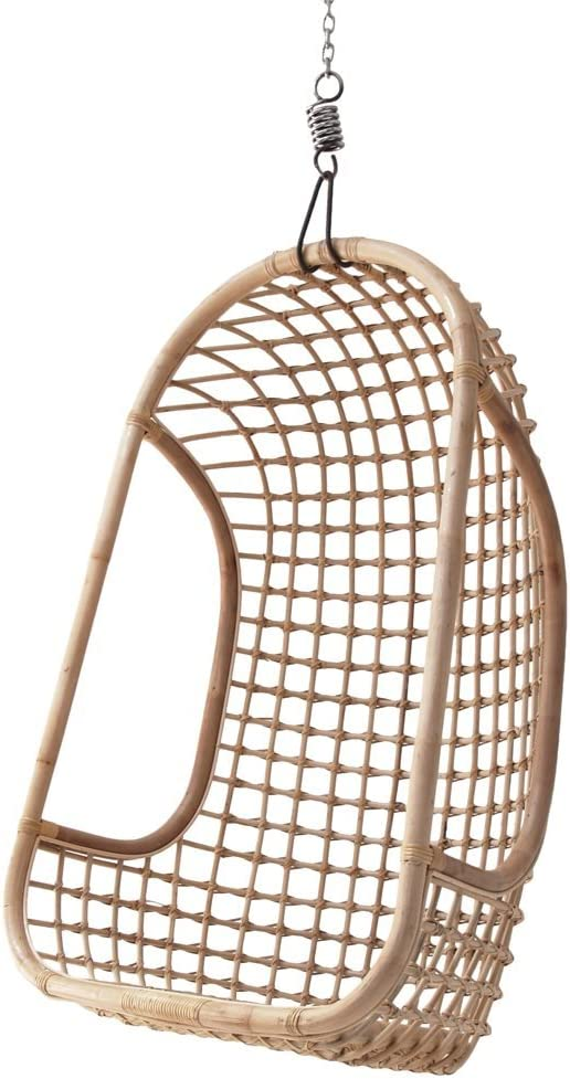 Hk Living Egg Chair.Hk Living Indoor Rattan Hanging Egg Chair In Natural Finish