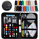 Rovtop Sewing Kit- Over 140 Premium Sewing Supplies – Includes 38 Spools of Thread and 1 pack of sewing needles (Count 30), Practical Mini Travel sewing kit, Beginners Sewing Kit, Emergency Sewing Kit
