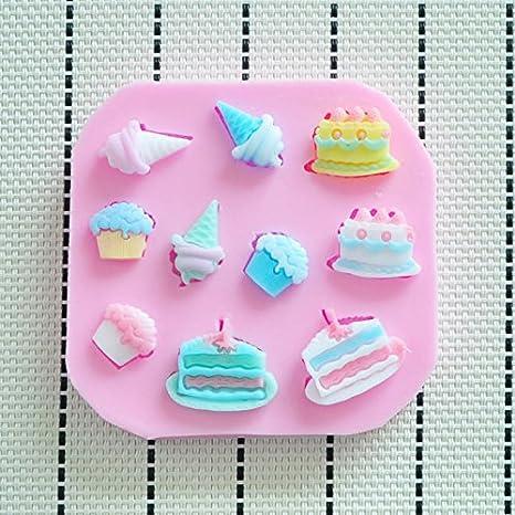 Stampo In Silicone Disegno Dolci Torte Cupcakes 3d Fai Da