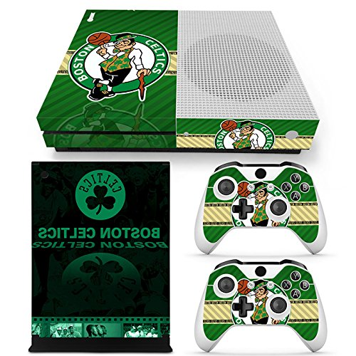 FriendlyTomato Xbox One S Console and Wireless Controller Skin Set - Basketball NBA - XboxOne S XOS Sticker Vinyl