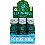 BrainJuice Brain Booster Shot, Caffeine Free| Liquid Drink for Immediate Nutrients, Memory & Mood, and Clarity, with L-Theanine, Alpha-GPC, Non-GMO| Pack of 12, 2.5 fl oz (74 ml)