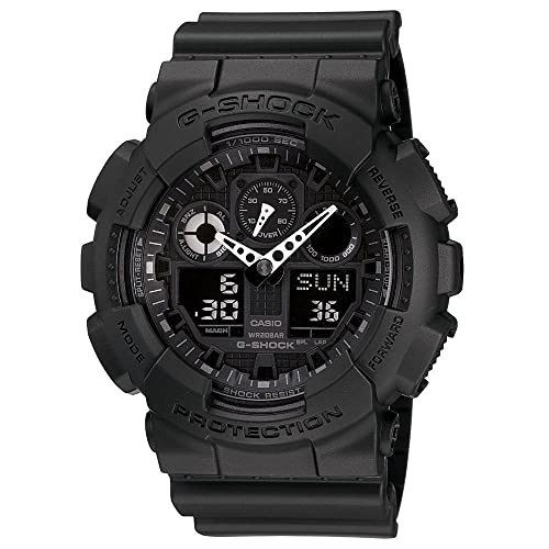 Casio Mens G-SHOCK - The GA 100-1A1 Military Series Watch in Black
