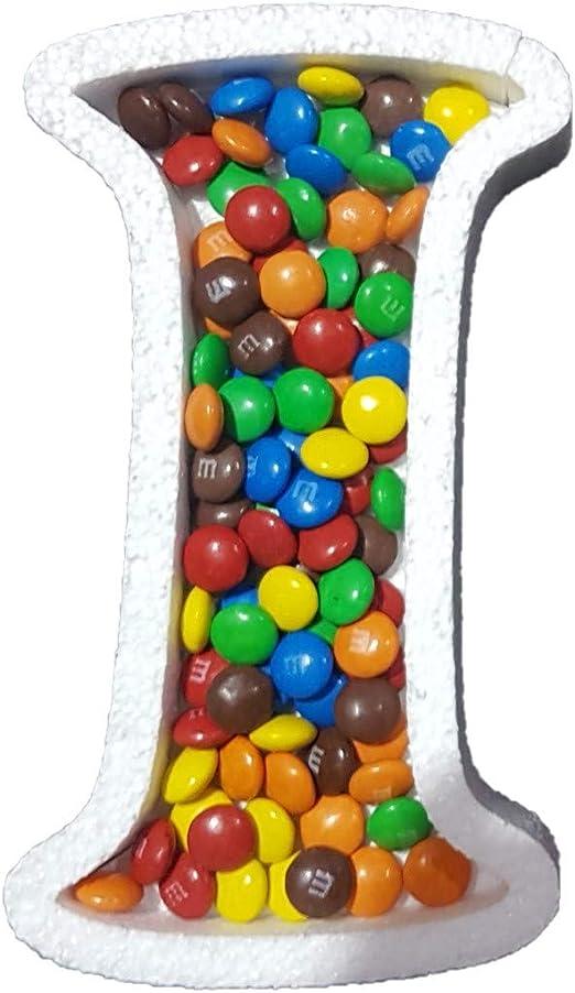 DecoPorex Letra N para Caramelos de 20Cm de Altura y 2Cm de Profundidad en poliestireno