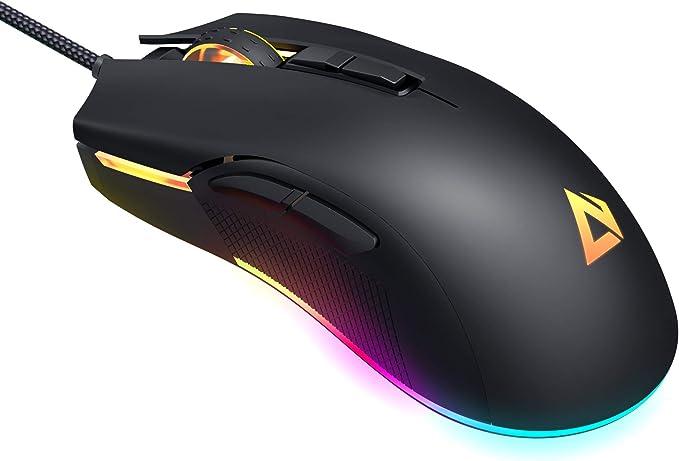 142 opinioni per AUKEY Mouse Gaming RGB, Mouse FPS con 5000 DPI Reali, 6 Pulsanti Programmabili,