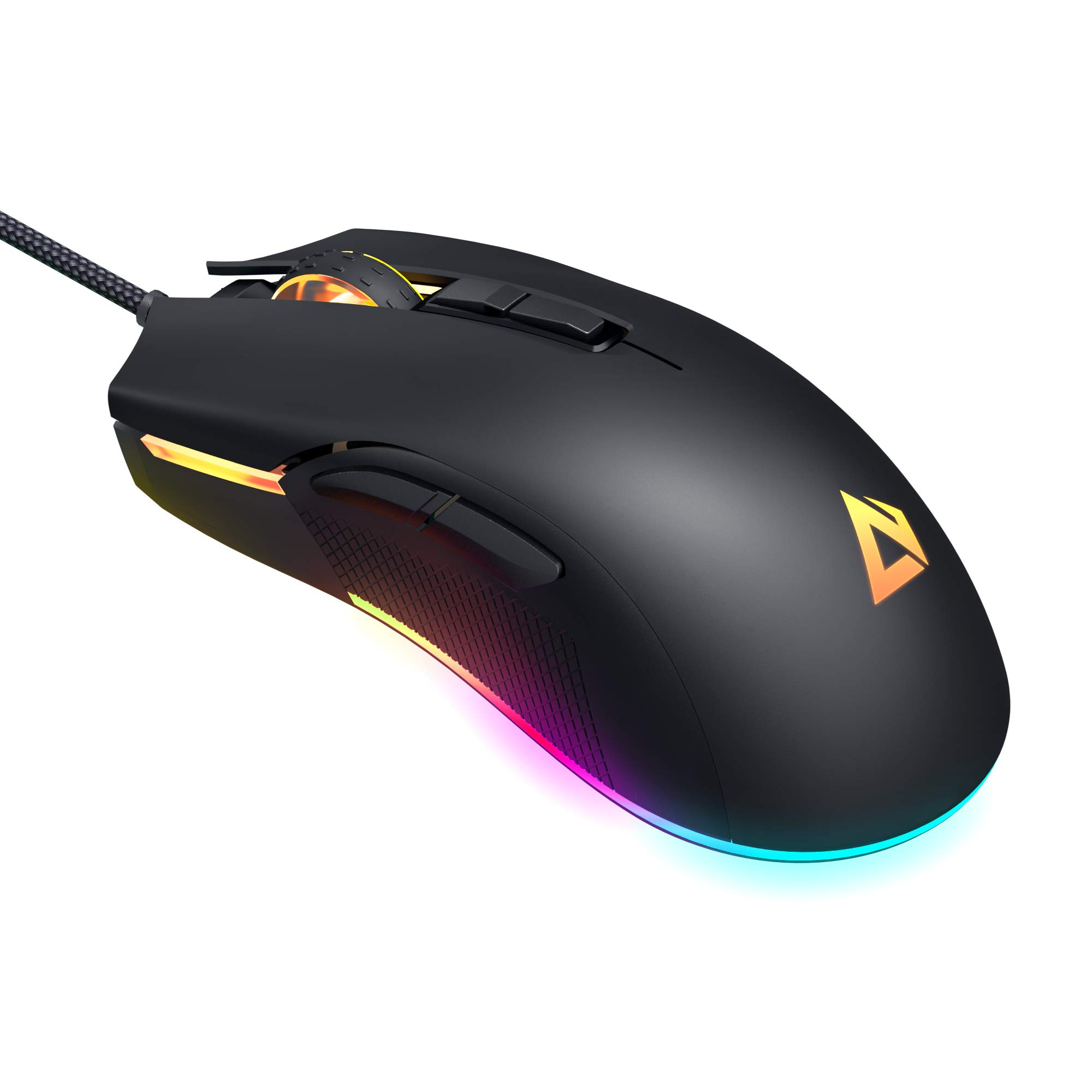 AUKEY RGB Gaming Mouse, True 5000 DPI FPS Mouse with 16.8 Million Color, 6 Programmable Buttons, Ergonomic Design, High Precision Optical Mouse for PC and Laptop Gamers, Black by AUKEY