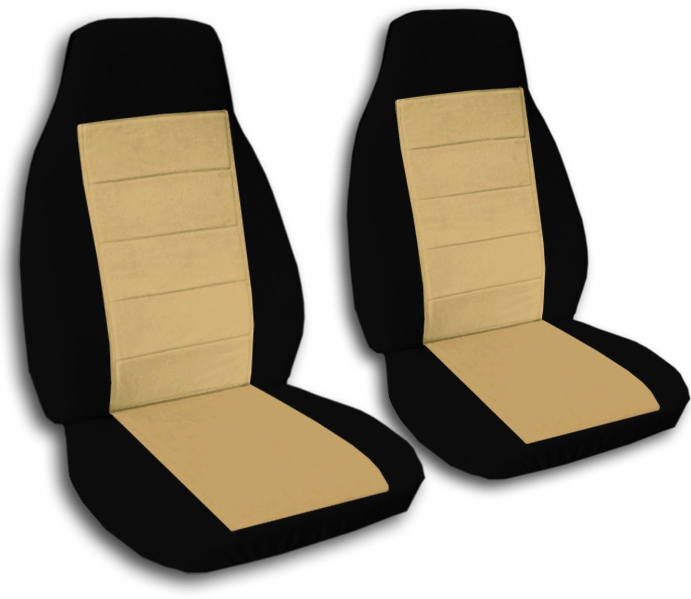 2005 2006 2007 2008 2009 2010 2011 Chevrolet 21 Colors Totally Covers Fits 2004-2012 Chevy Colorado//GMC Canyon Two-Tone Truck Bucket Seat Covers Black and Charcoal