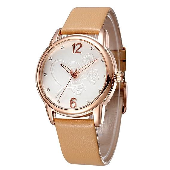HWCOO Relojes de pulsera SKONE Reloj de vestir para mujer Reloj de cuarzo de moda Diamond