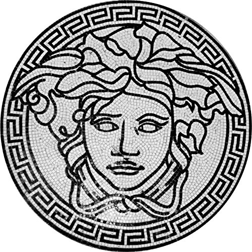 Versace Medusa Glass Mosaic Tiles Wall Bath Home Decor Medallion Floor Art (48