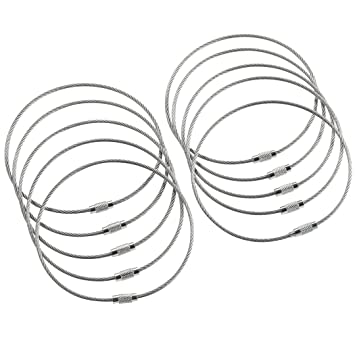 Amazon.com: Aros para llaveros de alambre de acero ...