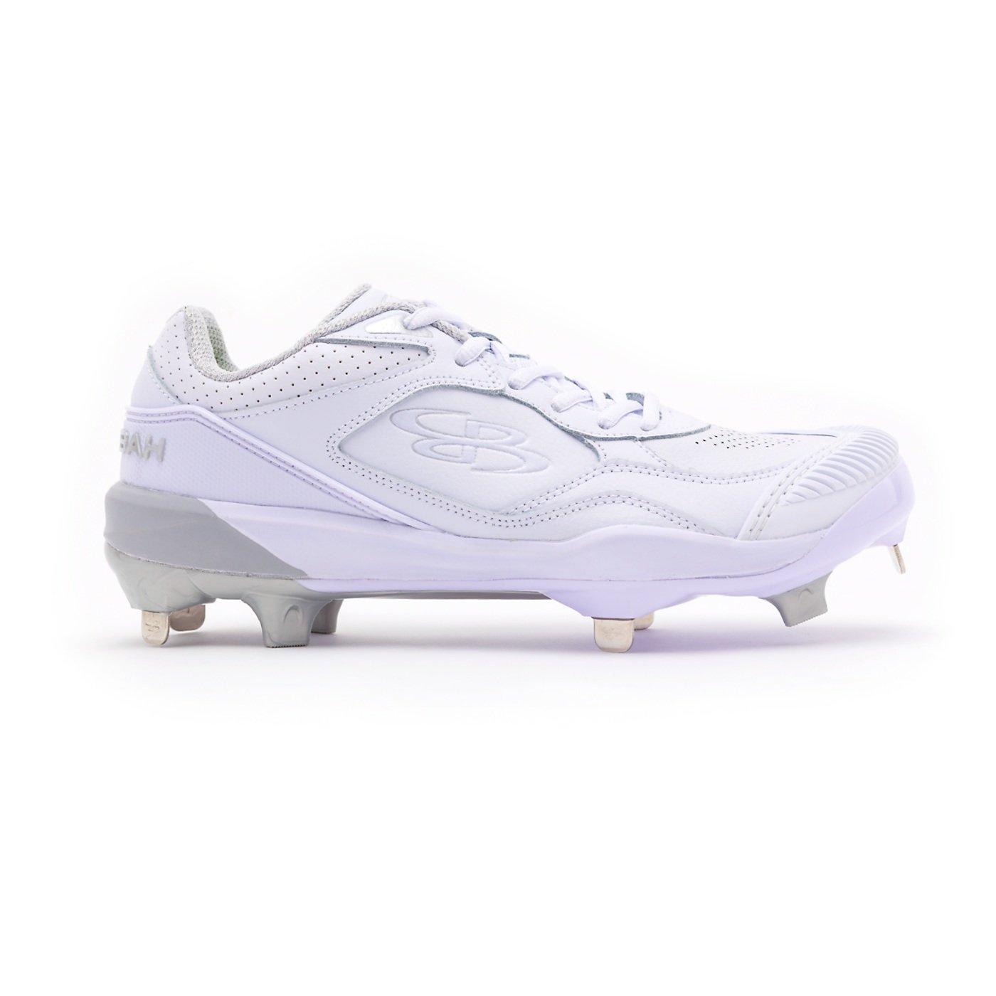 Boombah Women's Endura Pitcher's Toe Metal Cleats White/White - Size 8
