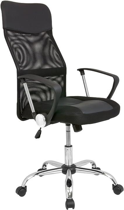 Cashoffice - Silla de Oficina - Silla de Escritorio con respaldo transpirable - Color Negro: Amazon.es: Oficina y papelería