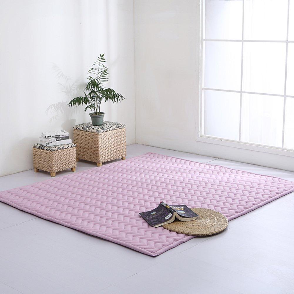 I 190cm×90cm LIUZEIMIN Baumwolle Baby CrawlingMatte,Volltonfarbe Folding Mat Antirutsch Dicker Teppich Wohnzimmer teppicheF 190cm×90cm