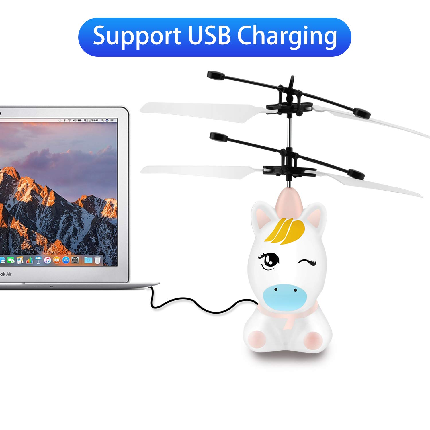 Flying Toys-RC Helicopter Toy Remote Control Helicopter for Kids Indoor Flying Ball Hand Control Helicopter for Kids Rechargeable Mini Helicopter for Boys and Girls