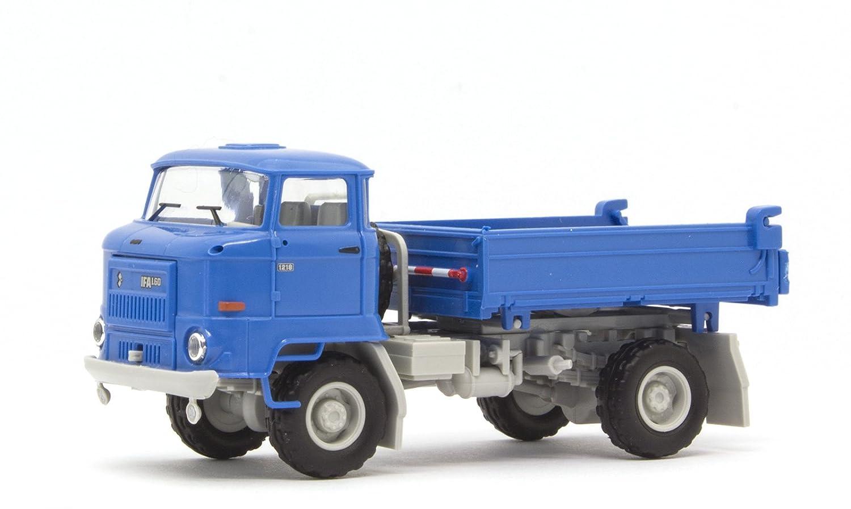 1/87 Busch IFA L60 3SK Pritsche blau Messe 95503
