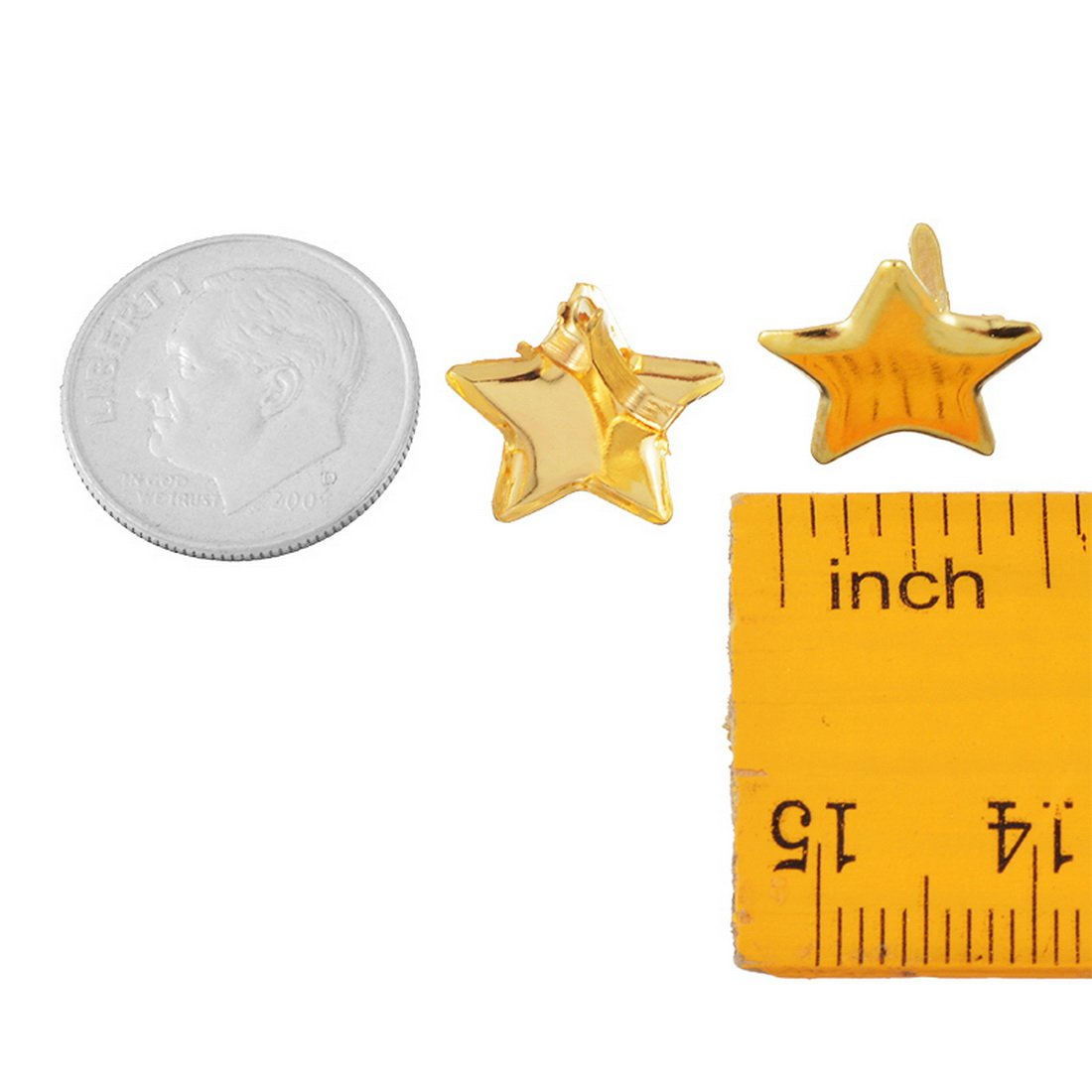 Souarts Gold Color Star Mini Brads for DIY Scrapbooking Embellishment Pack of 50pcs by Souarts (Image #3)