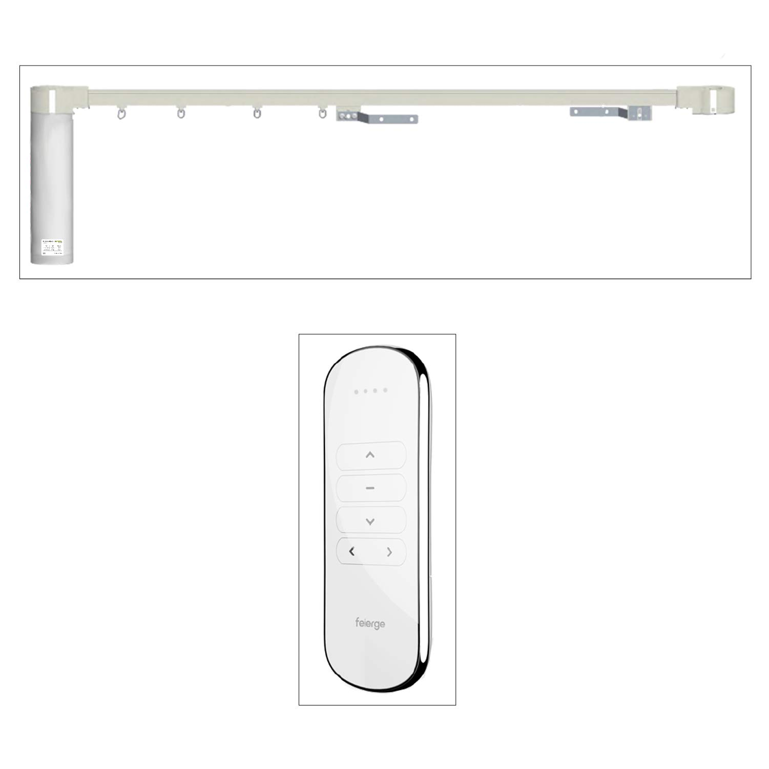 Ryosva SmartThings - Smart WiFi Curtain Motor Built-in Integration with Amazon Alexa and Google Home, Remote Control Smart Motorized Electric Curtain Tracks Pre-Assembly (197'' (500cm)) by Ryosva SmartThings
