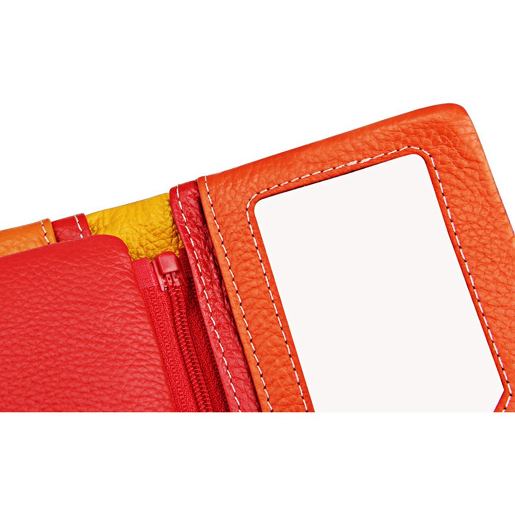 Myymee RFID Blocking Cowhide Long Wallet Card Holders with 22 Card Slots for Women